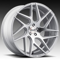 Литые диски Blaque Diamond BD-3 Silver w/Polished Face