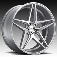 Литые диски Blaque Diamond BD-8 Silver w/Polished Face