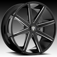 Литые диски DUB Push Gloss Black & Milled