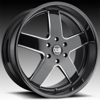 Литые диски DUB Big Baller Gloss Black & Milled