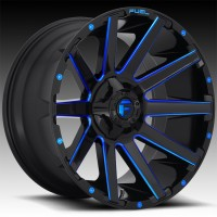 Литые диски Fuel Off-Road Contra Gloss Black w/ Candy Blue