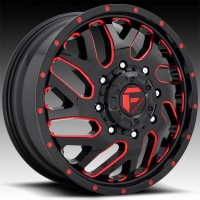 Литые дуальные диски Fuel Off-Road Triton Dually Front Gloss Black w/Candy Red