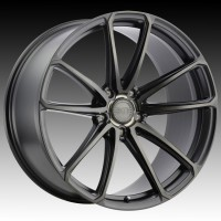 Литые диски XO Luxury Madrid Matte Black w/Milled Spoke & Brushed Tinted Face