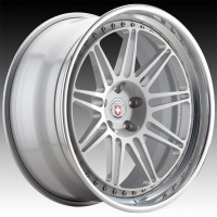 Кованые составные диски HRE 301 Naked Silver center, Polished Clear outer, Gloss Silver inner