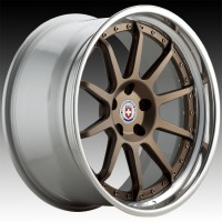 Кованые составные диски HRE C103 Satin Bronze center, Polished Clear outer, Gloss Silver inner