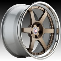 Кованые составные диски HRE C106 Satin Bronze center, Polished Clear outer, Gloss Silver inner