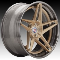 Кованые составные диски HRE RS307 Brushed Champagne center, Polished Dark Clear outer and inner barrel