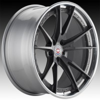 Кованые составные диски HRE S104 Satin Charcoal center, Polished Clear outer, Gloss Silver inner