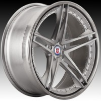 Кованые составные диски HRE S207 Brushed Titanium center, Brushed Dark Clear outer and inner